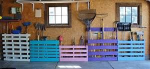 Ranger Garage : merveilleux idee de rangement garage 1 palette de bois pour ranger les outils de jardinage ~ Gottalentnigeria.com Avis de Voitures