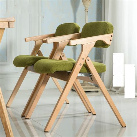 chaises pliantes en bois nordic chair woodmensal modern minimalist folding chair recreational chair cloth chair furniture