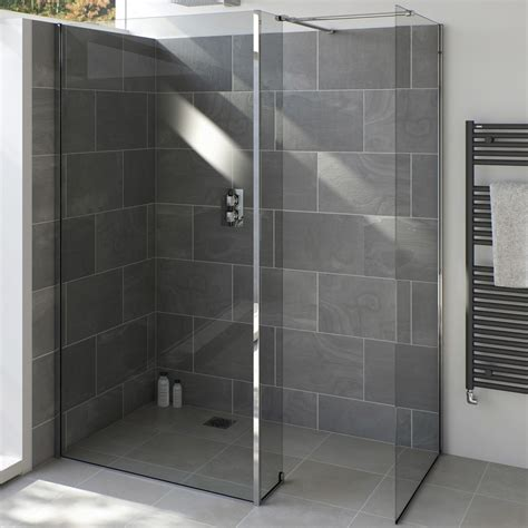 Bath Shower Glass by Armano 800 Shower Glass Panel With Wall Profile Tissino