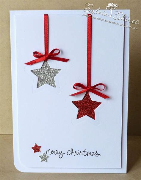 pin  christmas stamped cards
