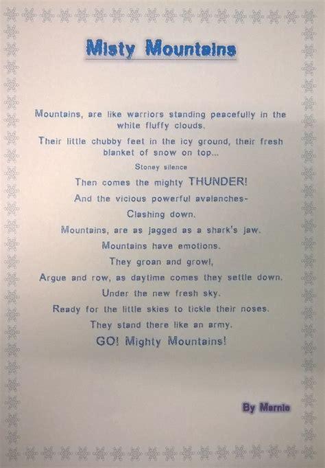 broughton primary school mountain poetry