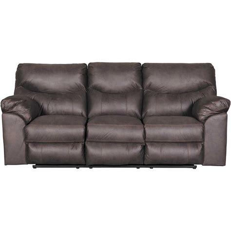boxberg teak reclining sofa  ashley furniture afw