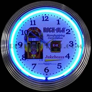 Rockola Jukebox Neon Clock RetroOutlet