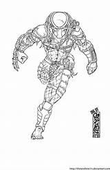 Predator Coloring Drawing Ink Alien Draw Colouring Wolf Runs Deviantart Comics Comic Helmet Dibujos Guardado Desde Artwork sketch template