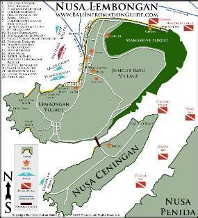 nusa lembongan island resort hotel lembongan map  info
