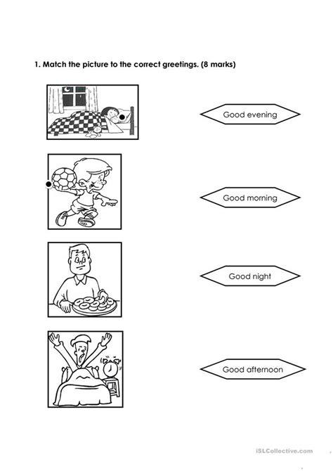 social expression worksheet  esl