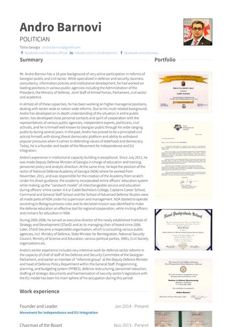 Of The Resume by Chairman Of The Board Resume Sles Templates Visualcv