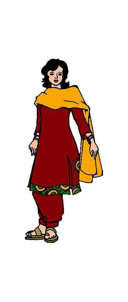 Clipart Woman Lady Indian Clip Cliparts Female