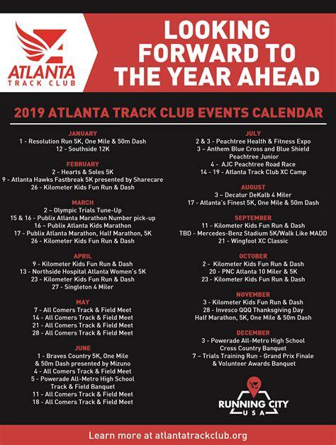 atlanta track club event calendar unveiled atlanta track club