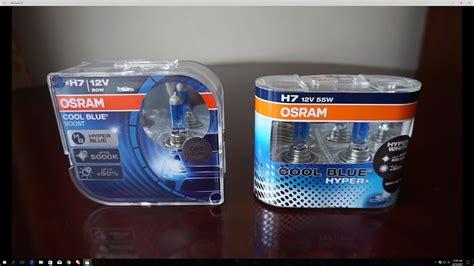 osram cool blue h7 osram cool blue boost 5000k vs cool blue hyper 5000k