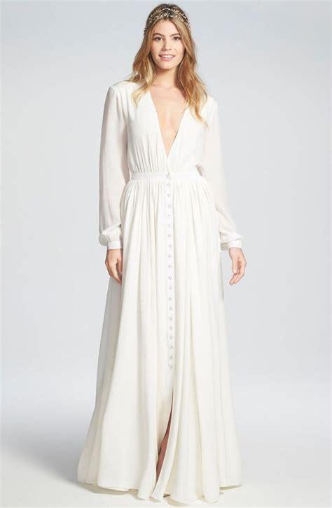 wedding dresses  long sleeves flowy wedding