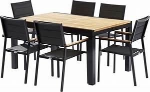 Table Et Chaises De Jardin Moderne Bali 6 Fauteuils