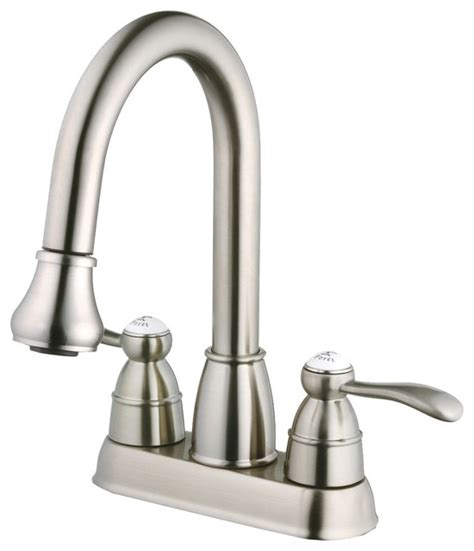 utility sink faucet with sprayer belle foret n600 01 ss pull down spray laundry faucet in