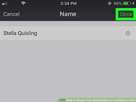 how to change the name on your iphone how to change your wechat name on an iphone or 6 steps