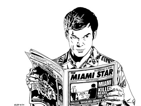 dexter  roachgrace coloriage series tv game