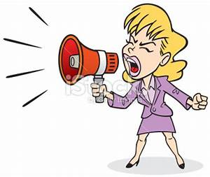 Woman Shouting Clipart (13+)