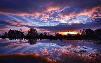 Nature Night Dark Sunset Desktop Wallpapers Lake