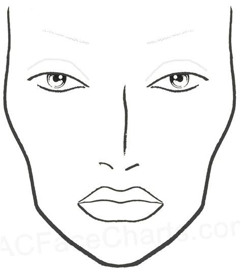 blank mac face charts printable face chart  imprimir