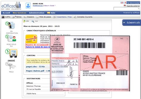 courriers postaux et fax coffre fort num 233 rique t 226 ches