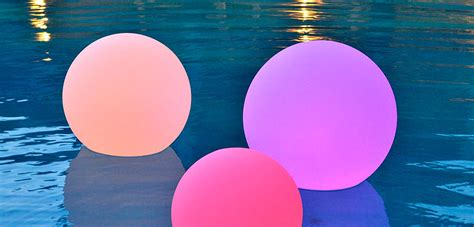 light up orbs for pool 24 quot orb led rgb waterproof battery op remote comes
