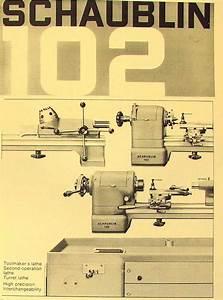 Schaublin No  102 Series Precision Metal Lathe Catalog