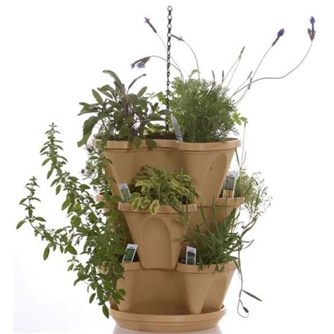garden stacker planter indoor culinary herb garden kit