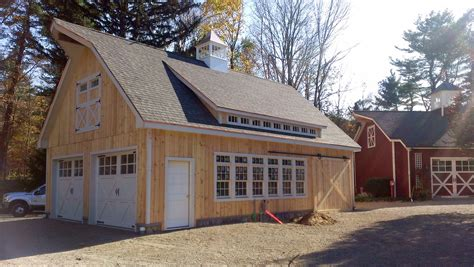 New Barn Garage by Sliding Barn Doors The Barn Yard Great Country Garages
