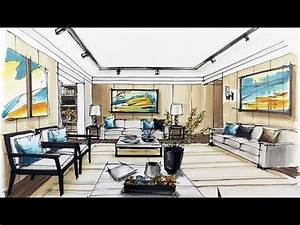 How to sketch interior design youtube for Youtube home interior decoration