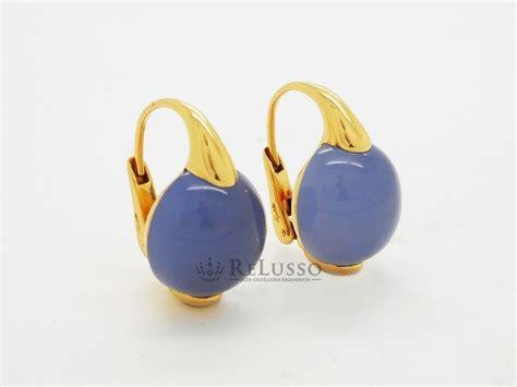 orecchini pomellato prezzo orecchini pomellato con calcedonio cabochon in oro