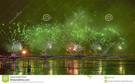colourful grand fireworks devoted to end of year 2017 editorial image cartoondealer com 83371540