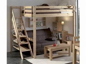 lit mezzanine 2 places ideale dans une chambre With mezzanine dans une chambre