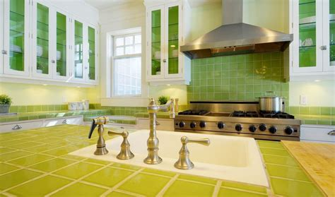 lime green kitchen tiles tile countertops make a comeback your options 7105