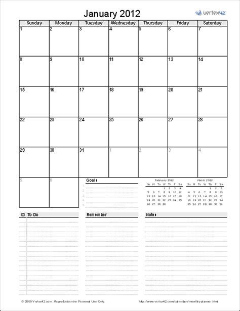 Monthly Organiser Template by Monthly Planner Template Free Printable Monthly Planner