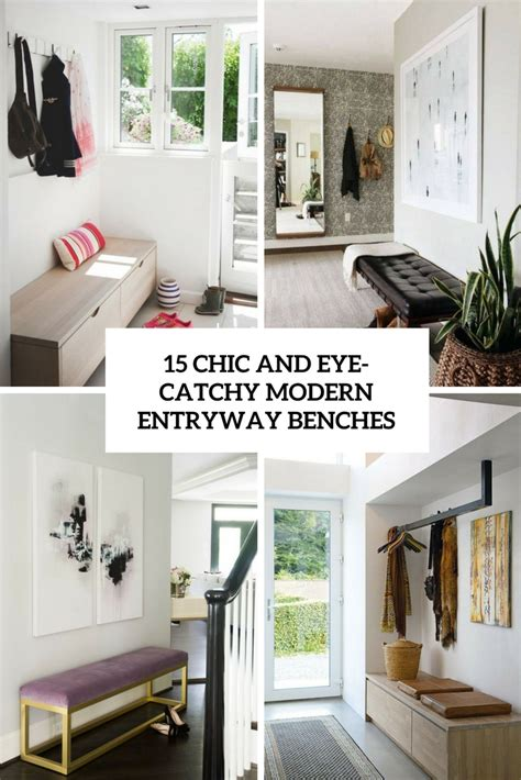 chic  eye catchy modern entryway benches shelterness