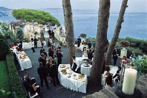 wedding reception  la cervara hotel  portofino italy