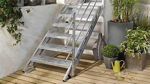 Escalier En Colimaçon Pas Cher : un escalier ext rieur en kit comment faire le bon choix ~ Premium-room.com Idées de Décoration