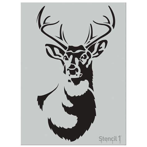 stencil1 large antlered deer stencil s1 01 52l the home depot