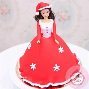 gateau princesse noel rose de princesse rouge poupee With robe imprimé noel