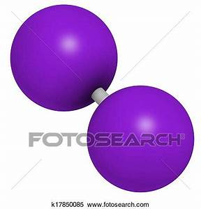 Stock Illustration Of Iodine  I2  Molecule  Solutions Of