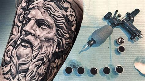 tattoo timelapse greek statue youtube