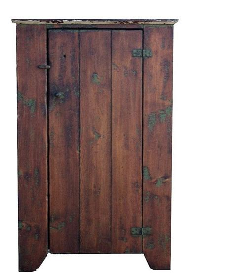 Primitive Rustic Chimney Cupboard Painted Country Style