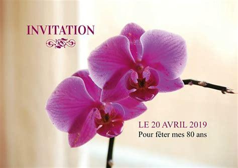 ordinateur bureau professionnel carte d 39 invitation anniversaire fleurs orchidées
