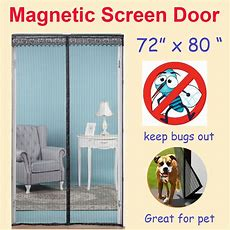 "Zyettst 72""(w) X 80""(h) Magnetic Screen Door For French"