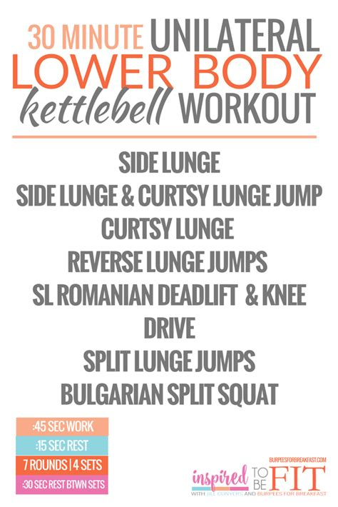 lower body kettlebell workout minute unilateral front