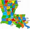 Online Maps: Louisiana Parishes Map