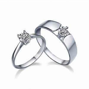 his and her matching cz wedding ring bands for couples With matching his and her wedding rings