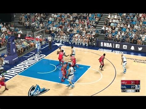 NBA2K17 Rockets VS Mavericks James Harden 26pts - YouTube