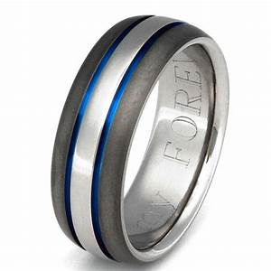titanium wedding band thin blue line from With blue line wedding rings