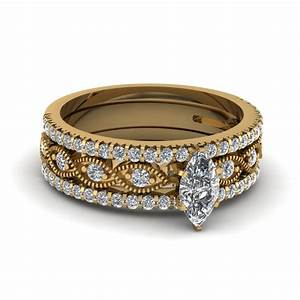 Browse our 18k yellow gold trio wedding ring sets for 18k yellow gold wedding ring sets