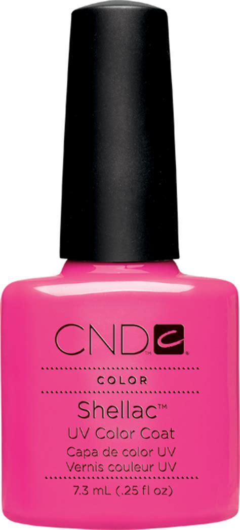 cnd shellac hot pop pink  gel nailscom